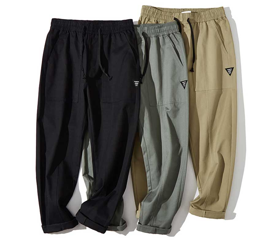 Men's casual label pattern sweatpants