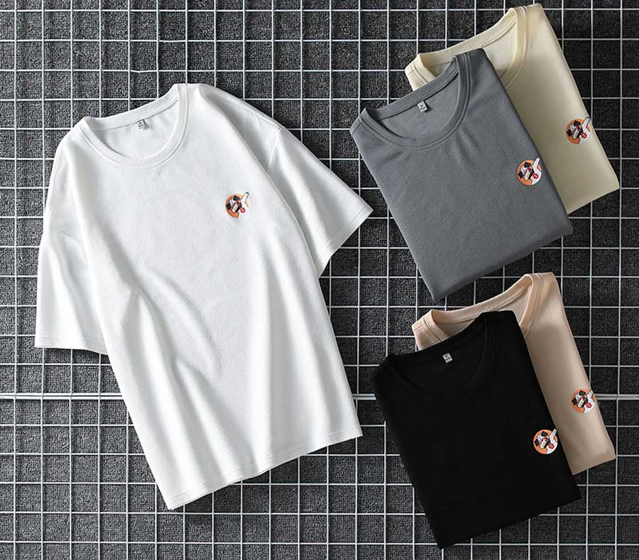 Men's letter and pattern print short sleeve t shirts