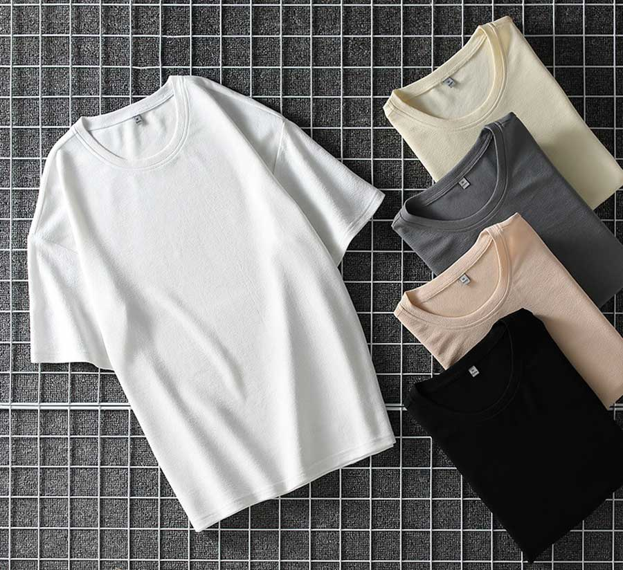 Men's short sleeve t shirts in plain