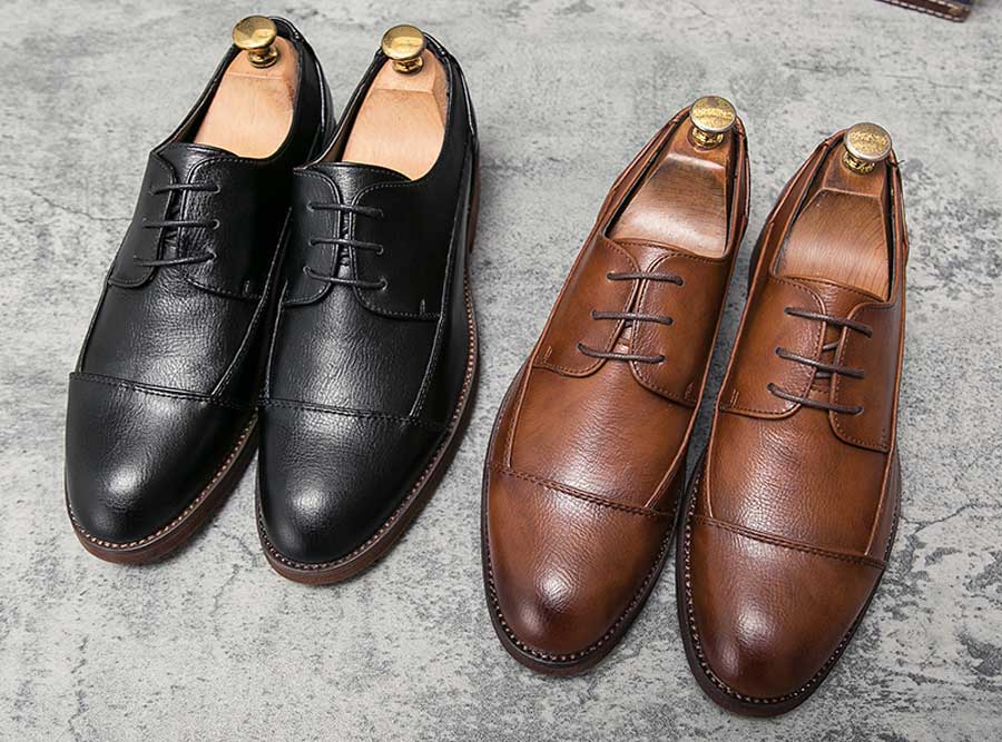 Men's splicing style derby dress shoes
